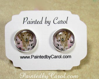 Dachshund Earrings, Dachshund Jewelry, Dachshund Studs, Dachshund Gifts, Dachshund Lover Gifts, Wiener Dog Earrings, Wiener Dog Jewelry