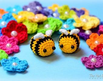 CROCHET PATTERN - Busy Bees - crochet bee pattern, amigurumi bee pattern,  bumble bee ornament,  bee decor pattern - Instant PDF Download