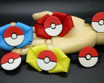 Pokemon Pokeball Barrettes