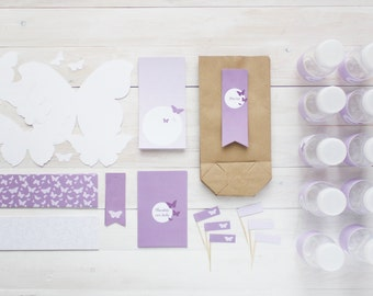 Printable party pack butterflies