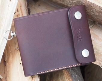 Leather biker style wallet