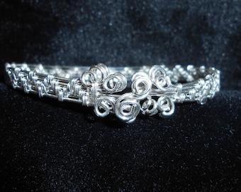 Sterling and Fine Silver Bracelet - Hand Weaved - Elegant