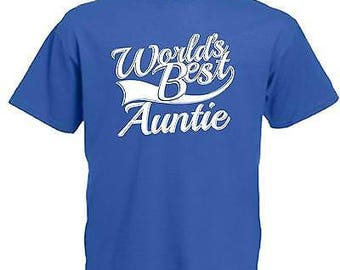 World's best auntie adults mens t shirt 12 colours size s - 3xl