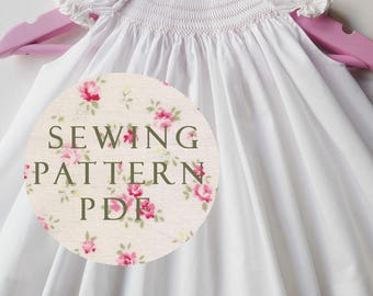 The Charm Bubble Dress for Newborn - Sewing PDF Pattern - How to Make - One Size - No Side Seams - Easy Way