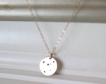 Constellation Necklace, Gold Zodiac Necklace, Gold Cancer Jewelry, Constellation Necklace, Gold Necklace, Gold Jewelry, Birthday Gift
