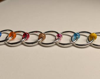 Large  Snagless Stitch Markers - Rainbow (Fit up to size 8 mm/US 11)
