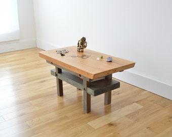Reclaimed Wood Meditation Altar - Japanese Torri Inspired - Two Toned