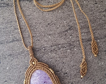 Charoite pendant / necklace Macrame with a Charoite / Boho Chic / beauty of stones / power of stones