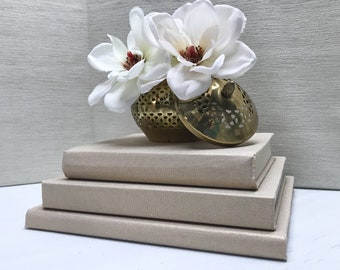 Gold Decorative Coffee Table Books, Gold Decor, Modern Decor