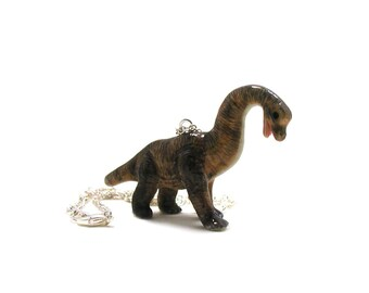 Brachiosaurus Necklace, Dinosaur Necklace, Dinosaur Jewelry, Paleontology Jewelry, Dinosaur Jewelry, Diplodocus Charm, Long Neck Dinosaur