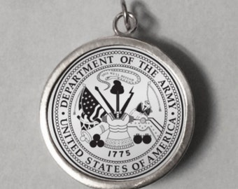 st medallion military army personalized pendant michael item