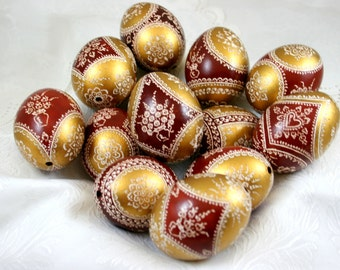 Easter eggs, chicken eggs, pysanka, hand decorated, pysanky, unique gift, handmade, Polish Pysanky , easter eggs , easter decoration