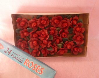Vintage Valentine's Day Rose Light covers. 24 pc., vintage valentine decor, ornaments and accents