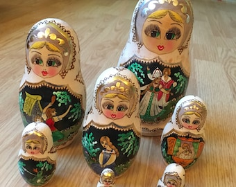 Russian Nesting Dolls - Set of 7 - Just Reduced - Matryoshka - Ornate Painting