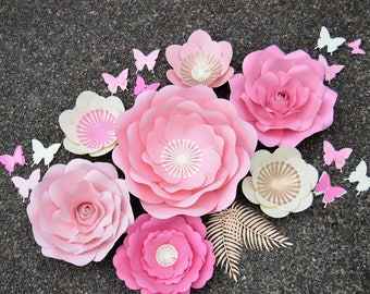NURSERY PAPER FLOWERS set by seattle giant flowers