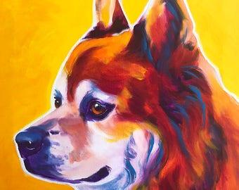 Chow Chow, Pet Portrait, DawgArt, Dog Art, Pet Portrait Artist, Colorful Pet Portrait, Chow Chow Art, Pet Portrait Painting, Art Prints