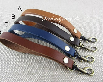 Real Leather Wrist Handle