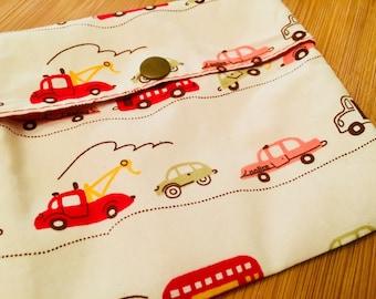 Snack Bag, Reusable, British Traffic print