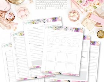 Instagram Planning Worksheet Bundle Social Media Planner Organize Instagram Instagram Planner Business Planner Hashtag Worksheet Branding