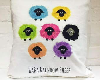 Sheep cushion / new baby / nursery/ kids bedroom / kids gift idea / novelty / christening / baptism