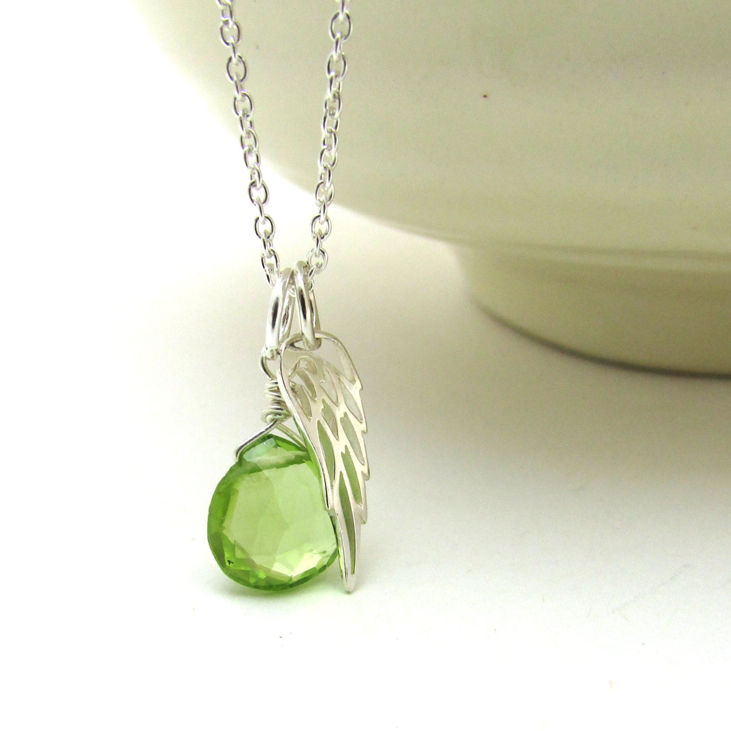 peridot necklace pendant august birthstone shaped beautiful index heart