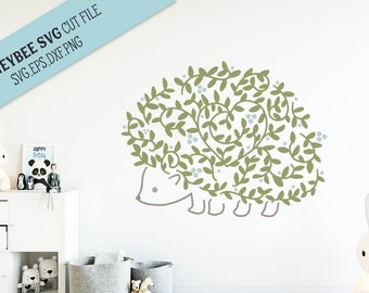 Hedgehog SVG Cut file for Silhouette and Cricut type cutting machines