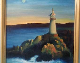 Lighthouse- an original oil painting