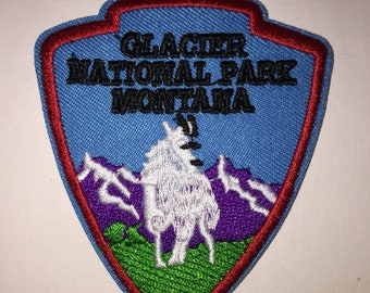 Glacier National Park hiking mountains outdoor adventure Iron On Patch