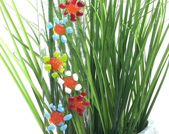 Garden Art, Mother's Day Gift, Garden Stake, Garden Decor, Indoor Plant Stake, Gift For Her, Yard Art, Plant Stake, Fused Glass, Suncatcher