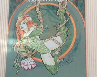 Poison ivy Greeting cards, gotham sirens cards, Personalized cards, DC comics card, Birthday cards