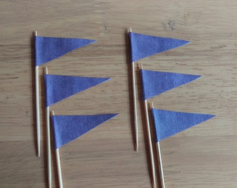 Purple Flag Cupcake Toppers