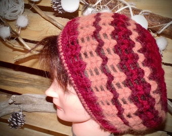 Red Salmon woman Hat