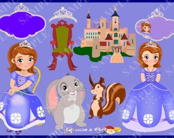 Princess Sofia Clipart Set - png and jpeg format