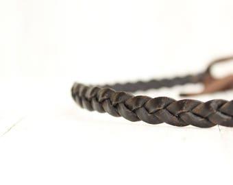Headband Hairband leather - brown