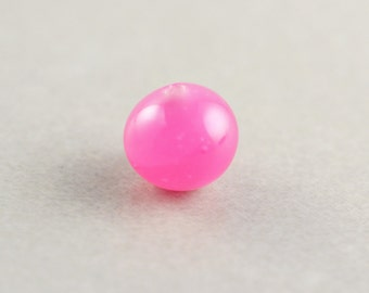 Pink Vintage Bead, 9mm Round Pink Bead, Japanese Glass Bead, One