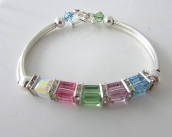 Birthstone Bracelet, Mom Birthstone Bracelet, Nana Birthstone Bracelet, Personalized Bracelet, Birthday Gift, Free US Shipping