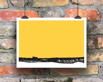 Cycling Art / Bicycle Print /  Giclee Cycling Print / Up and Over