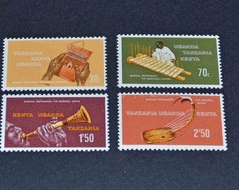 Africa stmps 4 MNH 1970 Musical instruments