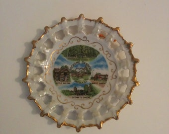 Vintage Rockome Gardens Collectible Plate Arcola Illinois Amish Country