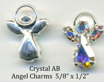 Angel Swarovski Crystal AB -iridescent body and wings - Quanity 2