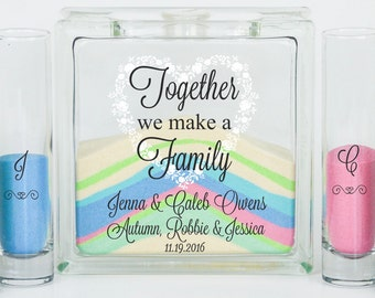Blended Family Wedding Sand Ceremony Kit, Unity Candle Alternative, Together We Make a Family, Blended Family Wedding Gift
