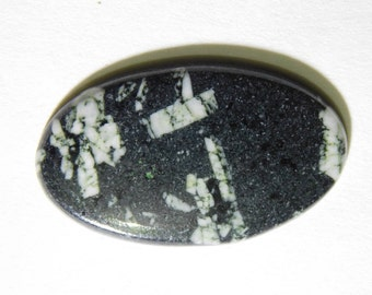 AAA Quality Cabochons Natural Chinese Writing Stone Gemstone Loose Gemstone Oval Shape 16.60 Cts. (30X18X3.39) MM Free Shipping