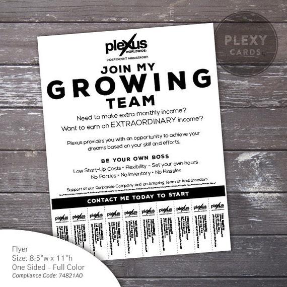Plexus business building flyer with tear off tabs digital like this item saigontimesfo