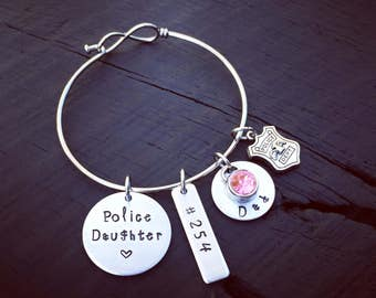Police Daughter Bracelet | Police Officer Jewelry | Law Enforcement Jewelry | Gift For A Police Officer's Daughter | Gift From Police Dad