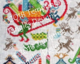 North Pole Welcome Mystery Stitch Along Christmas SAL by Tempting Tangles  pdf file