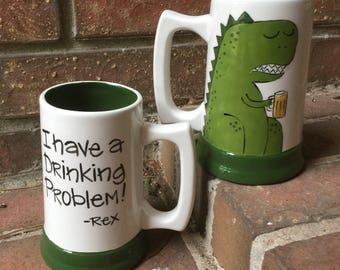 T Rex Dinosaur Beer Stein