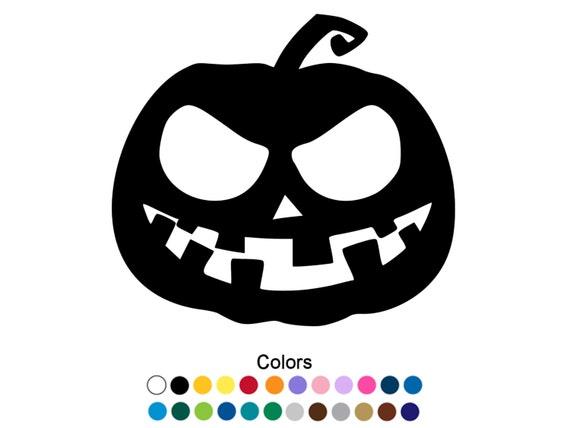 Scary halloween pumpkin decal scary pumpkin sticker outdoor