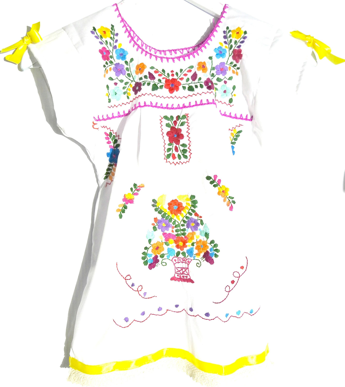 Bohemian flower girl Mexican dress romantic dress boho baby baptism