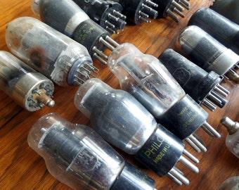 5 Assorted Radio Tubes - Vintage Tube Radio Vacuum Tubes - Original Vacuum Tubes