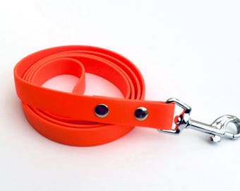 "Biothane Dog Leash in Orange 1.2ms (48"") and 1.5ms (60"") 19mm (3/4"") width"